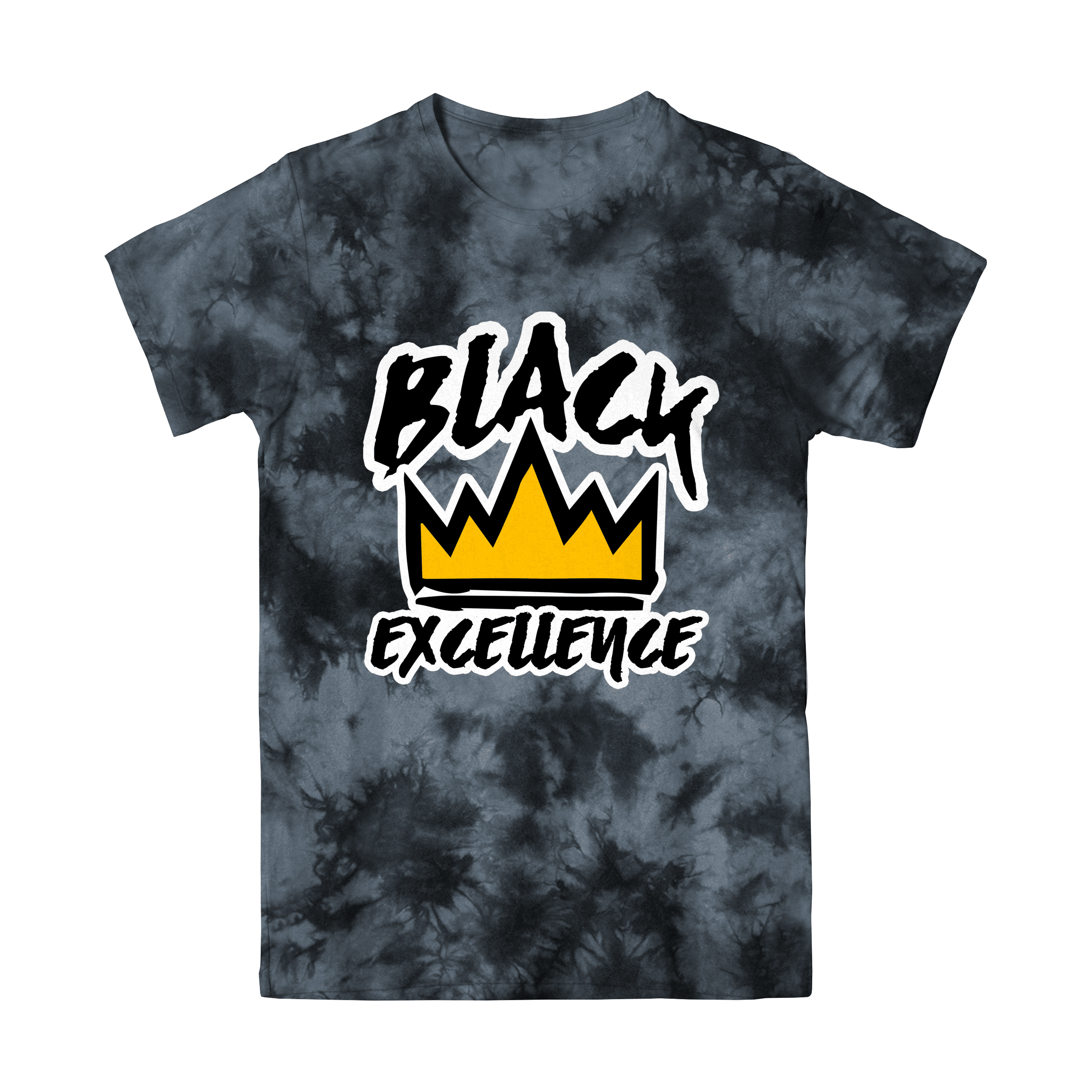 Black Tie-Dye Black Excellence T Shirt