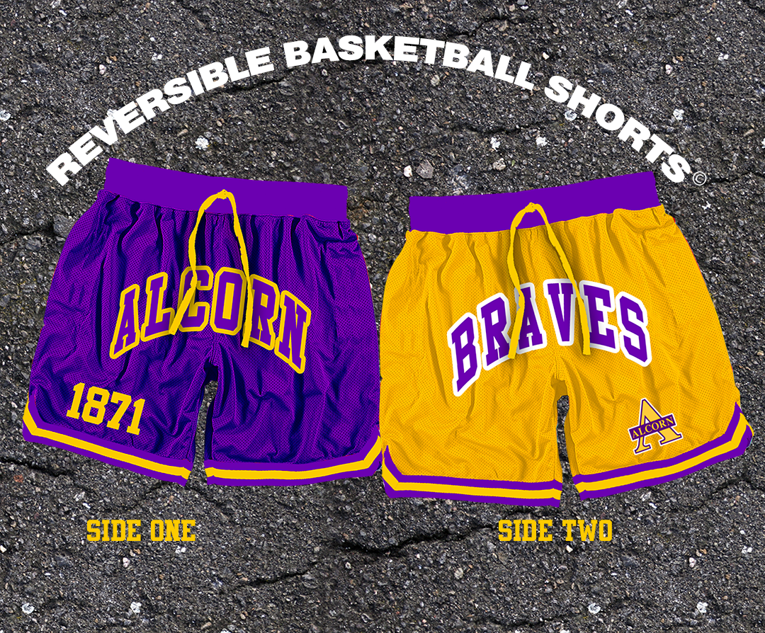 Reversible Alcorn State Basketball Shorts