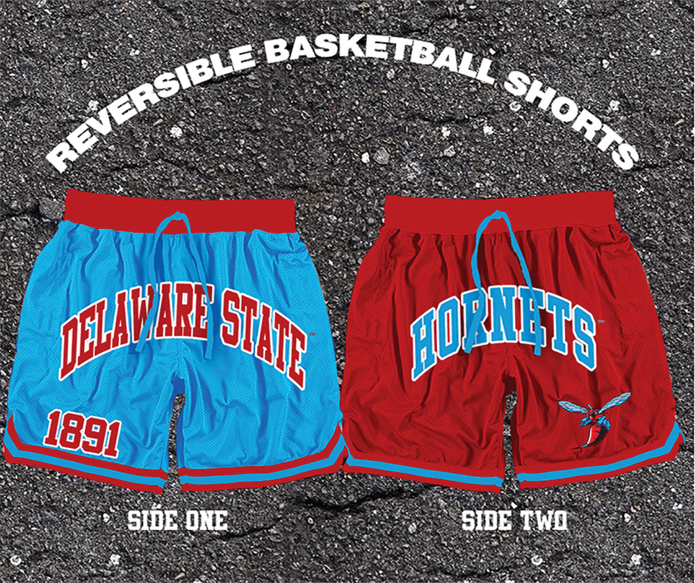 Delaware State Reversible Basketball Shorts Ships April 23