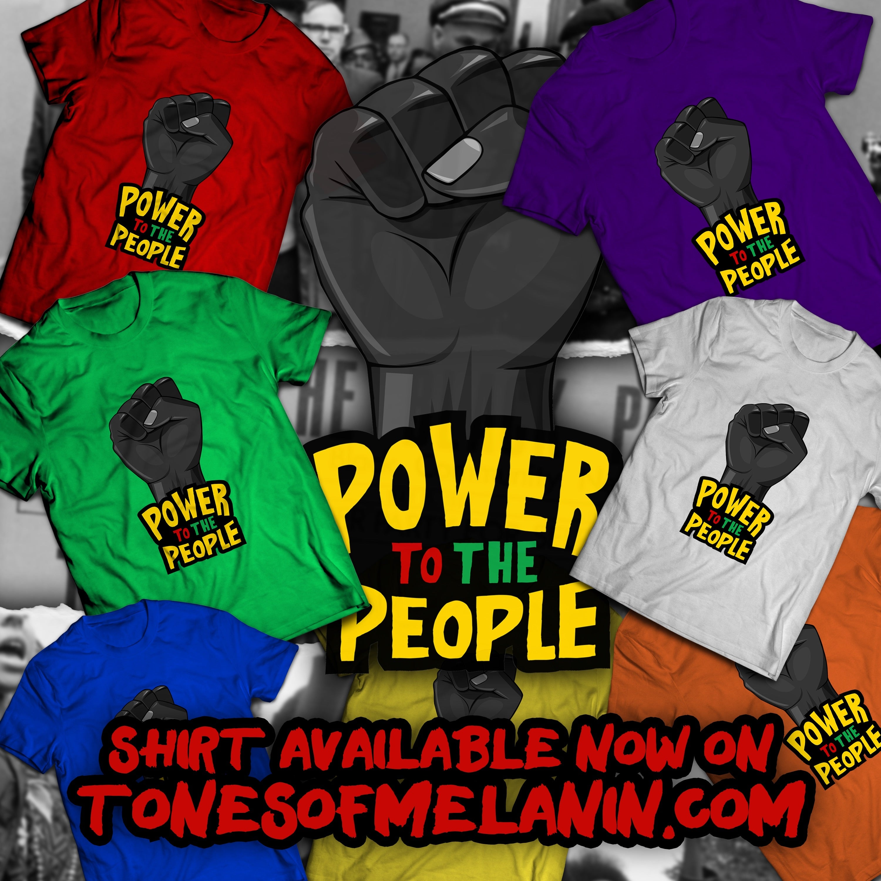 Power to the People Unisex Heavy Cotton Tee (Several Colorways)