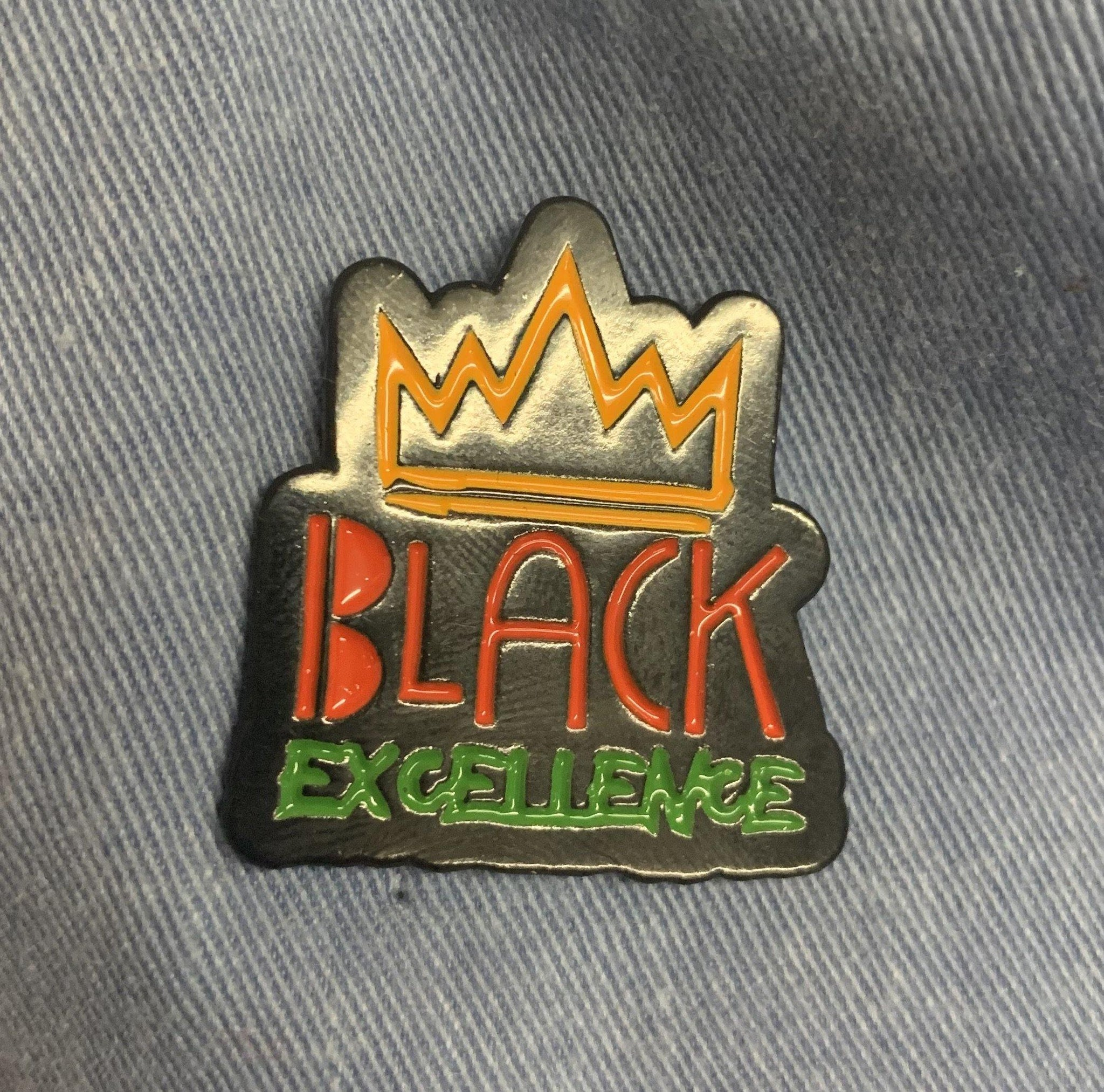 Black excellence lapel pin