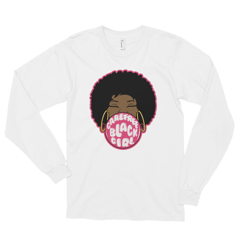 Careless Black Girl Fro Long sleeve t-shirt (Various Colors)