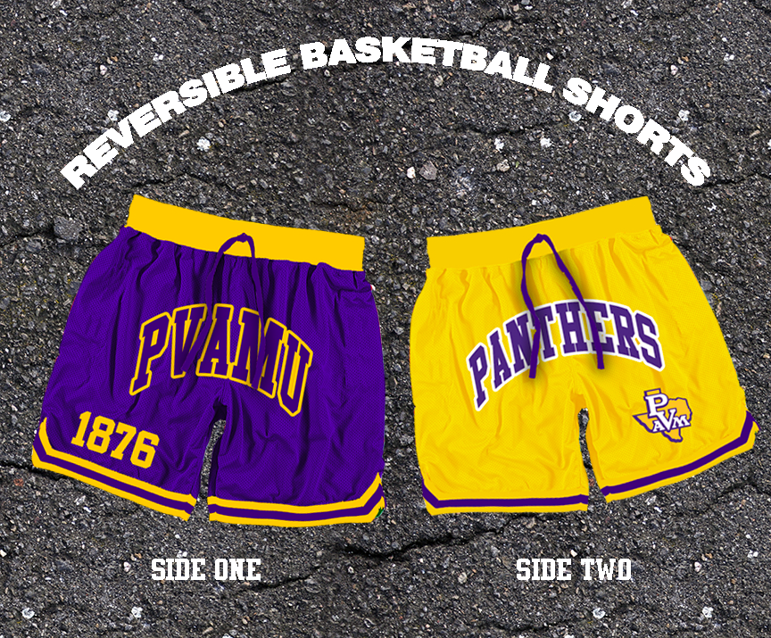 Reversible PVAMU Basketball Shorts Ships April 16