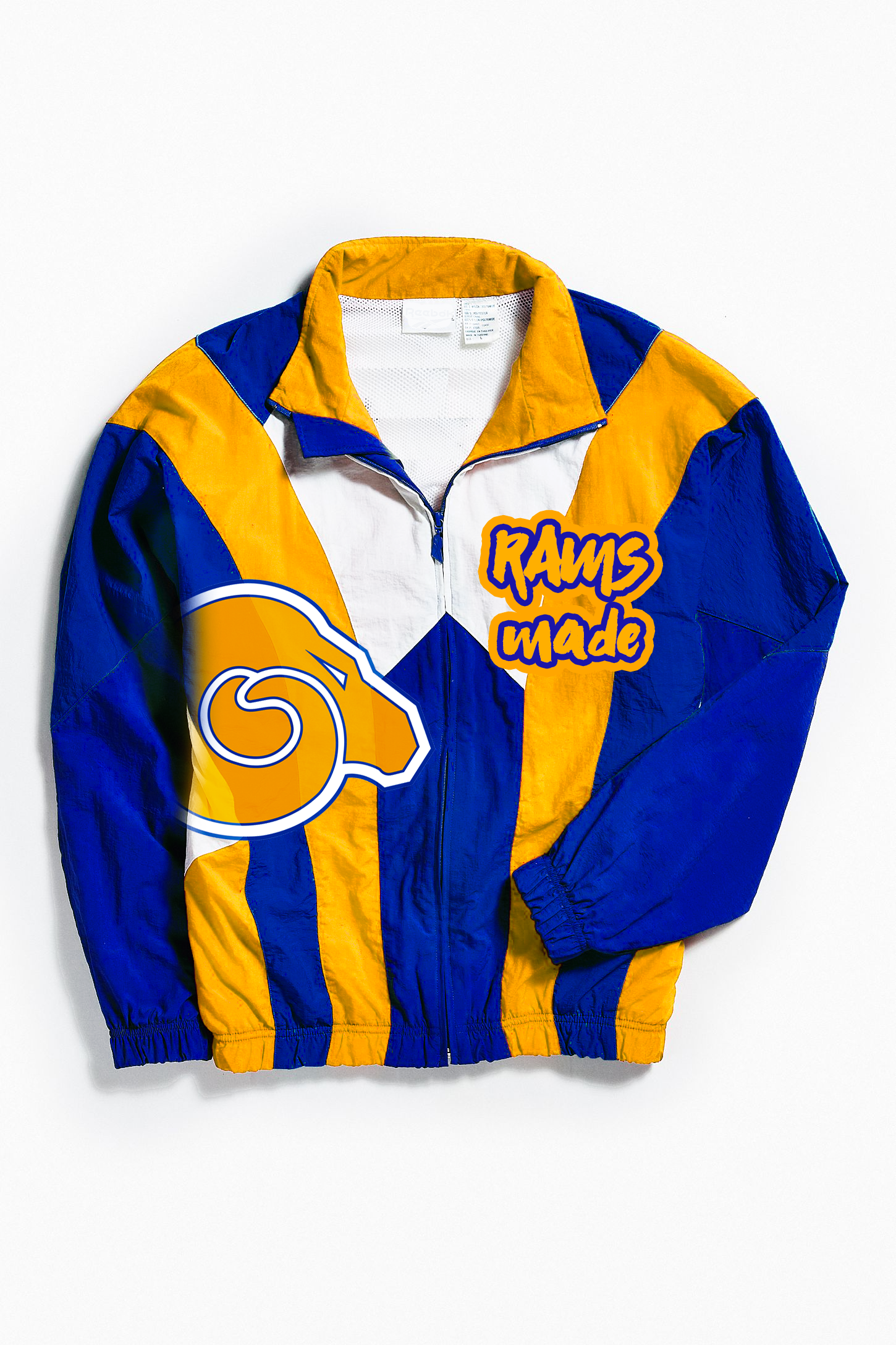 THROWBACK RAMS MADE WINDBREAKER