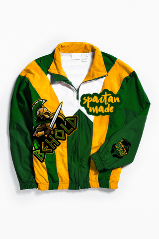 THROWBACK SPARTANS MADE WINDBREAKER
