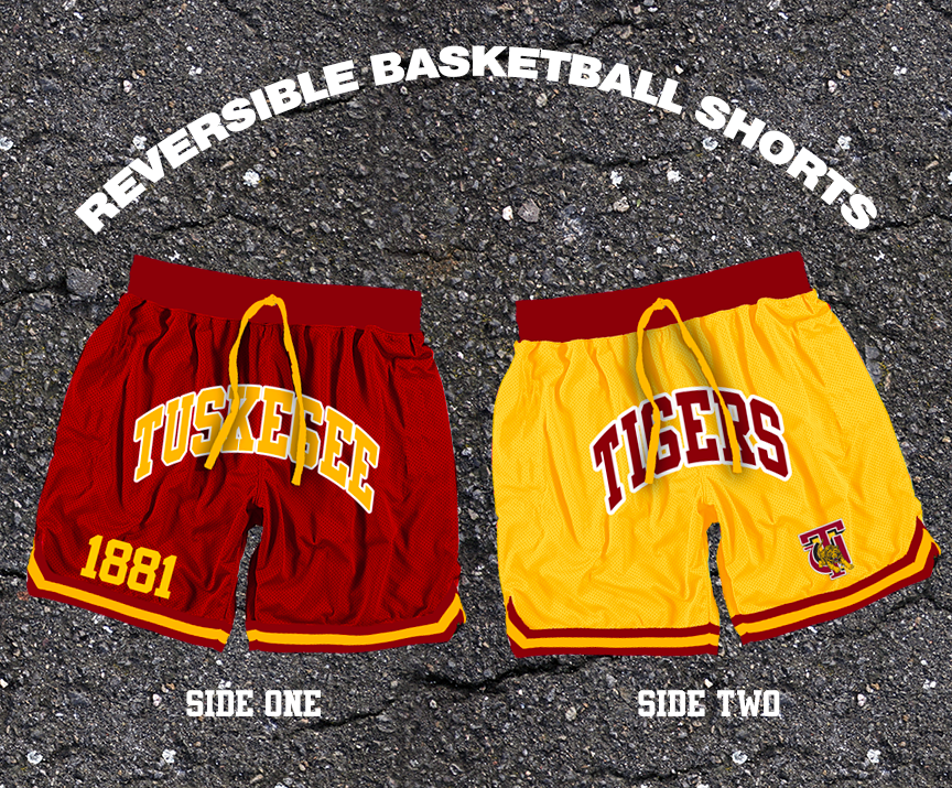Reversible Tuskegee Basketball Shorts Ships April 16
