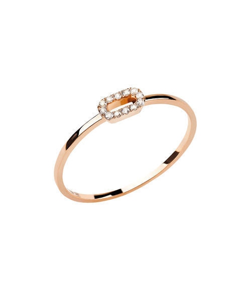Ring 18kt Roségold mit Brillanten 0,05 ct