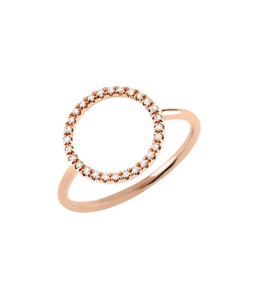 Ring 18kt Roségold mit Brillanten 0,08 ct