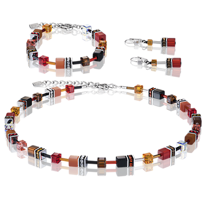 Armband Coeur de Lion - GeoCUBE rot-orange