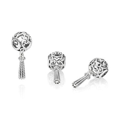 "Pandora Charm ""Enchanted Heart Tassel"""