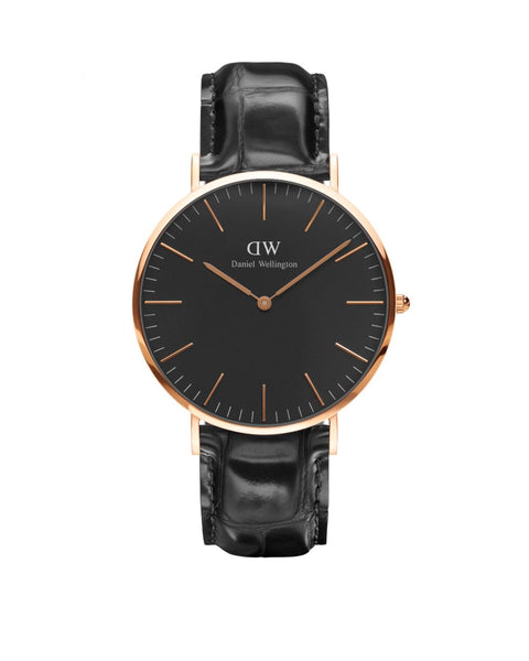 DW - Classic Black Reading | 40mm rosé
