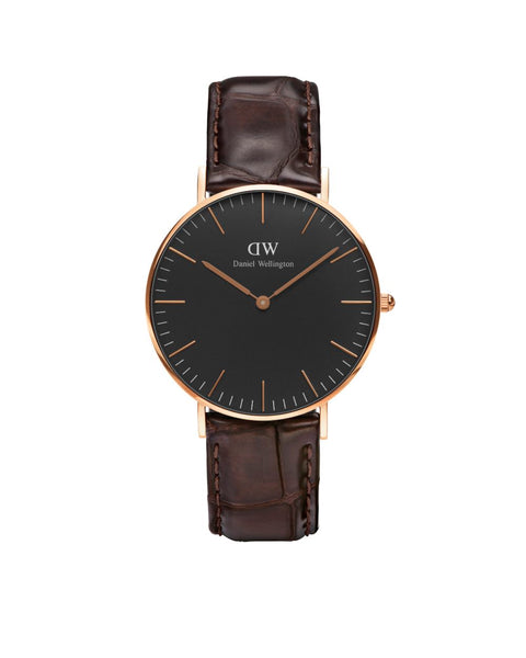 DW - Classic Black York |  36mm rosé