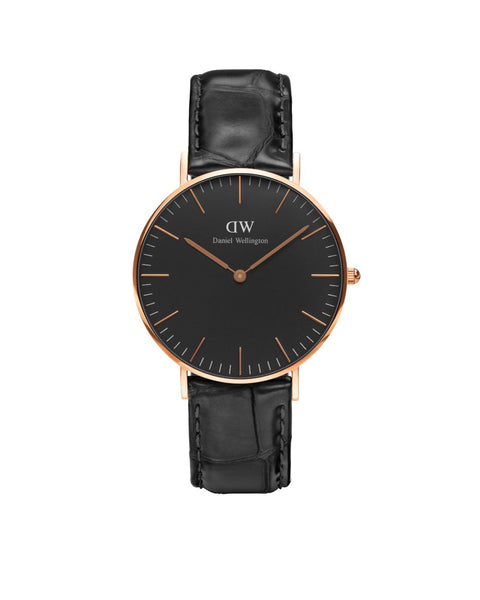 DW - Classic Black Reading | 36mm rosé