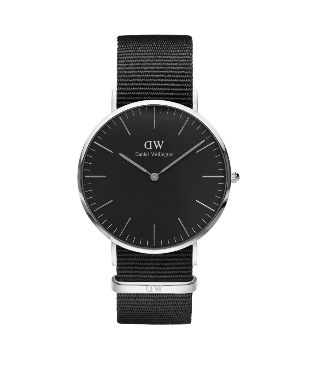 Cornwall Classic Black 40mm Silver