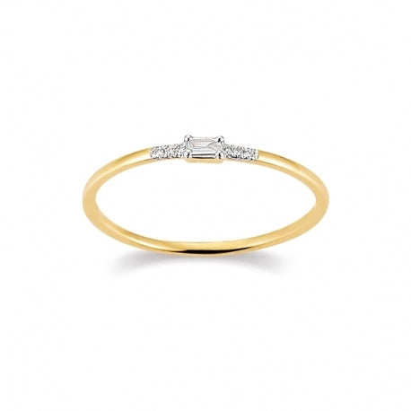 Ring 585 Gelbgold 0,03 ct