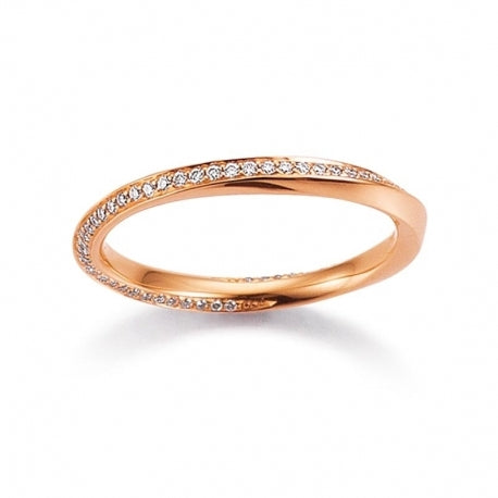 Memoire Ring 750 Rotgold 0,19 ct