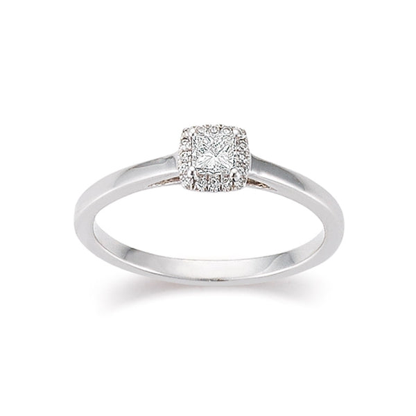 Ring Weißgold 750 Diamant 0,23 ct