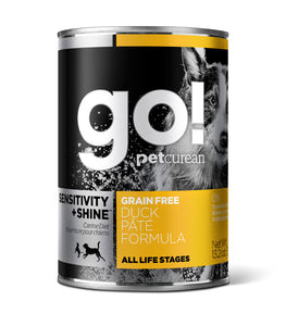 Petcurean Go! Sensitivity and Shine Grain Free Duck Pate Recipe Canned Dog Food