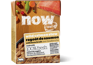 Petcurean Now! Fresh Grain Free Wild Salmon Stew with Bone Broth Wet Cat Food