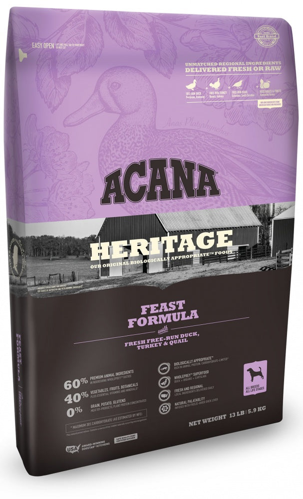 ACANA Heritage Feast Formula Grain Free Dry Dog Food