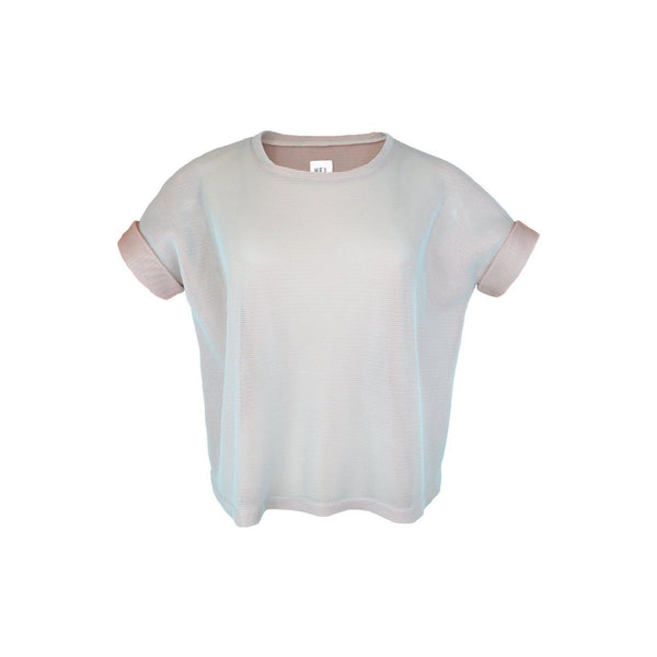 HEL Mesh-Shirt Boxy Fit in Türkis und Apricot