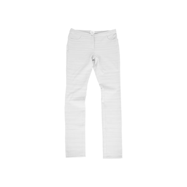 HEL Stretchhose Slim Fit Grau Gestreift Unikat