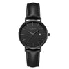 Lilywho Ladies Black - Black Leather Strap Watch LW30014