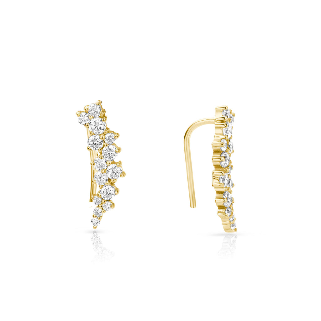 Lilywho Climber Yellow Gold Earrings LW-E003-Y