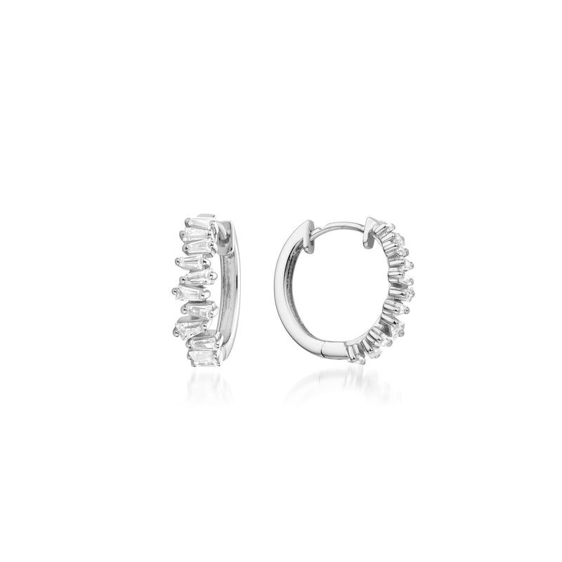 Lilywho Multi Stone Silver Hoop Earrings LW-E030-S