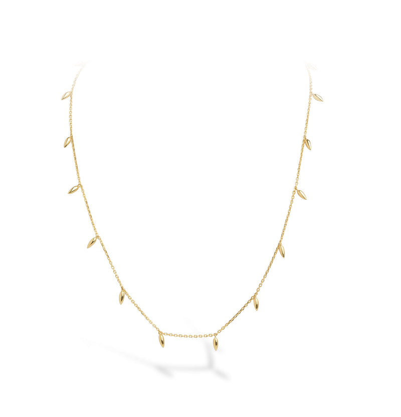 Lilywho x Rosie Mini Spike Yellow Gold Necklace LW-N032-Y