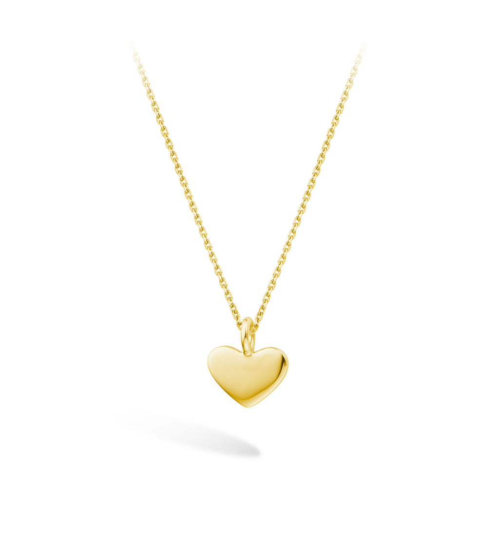 Lilywho Heart Yellow Gold Necklace LW-N059-Y