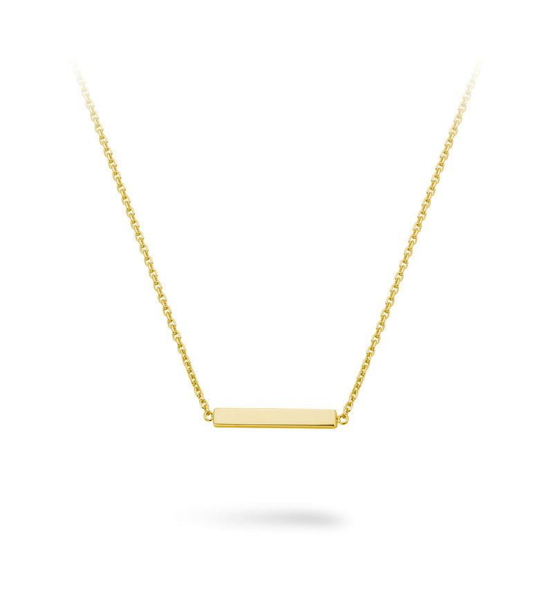 *PRE ORDER* Lilywho Block Bar Yellow Gold Necklace LW-N061-Y