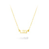 Lilywho 9ct Gold Block Name Necklace (1-6 Letters) LW-N082-9CT-GOLD