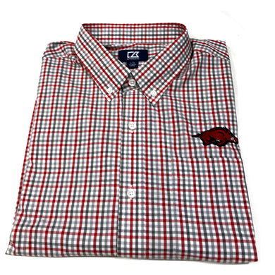 Cutter & Buck Arkansas - Red & Grey Check