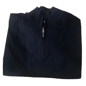 Navy 1/4 Zip Merino Wool Sweater C3 Natural Performance