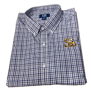 Cutter & Buck LSU - Purple & Grey Check