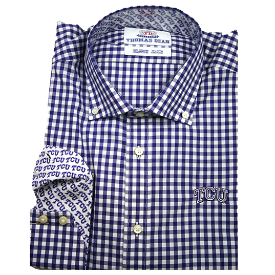 TDC TCU Horned Frogs - Purple Gingham