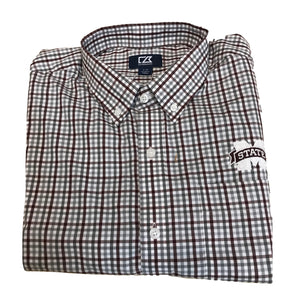 Cutter & Buck Mississippi State - Maroon & Grey Plaid