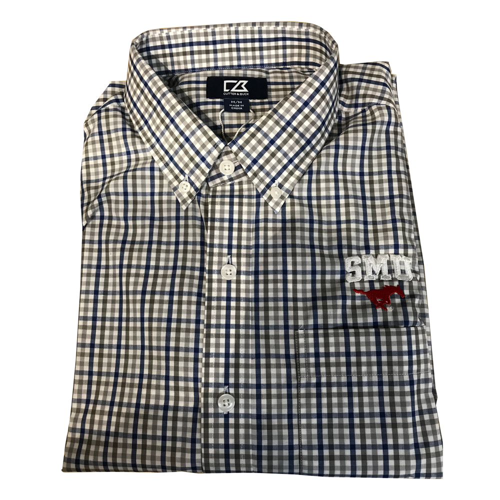 Cutter & Buck SMU - Blue Grey Check