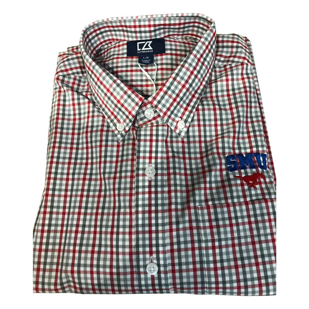 Cutter & Buck SMU - Red Grey Check