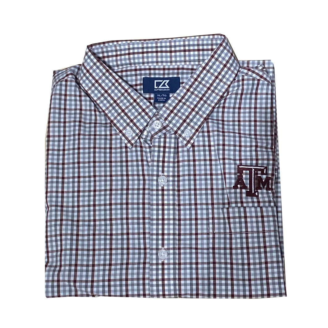 Cutter & Buck Texas A&M - Maroon & Grey Check