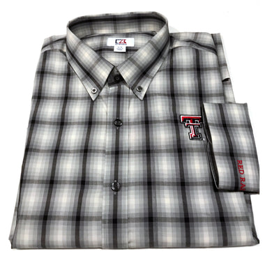 Cutter & Buck Texas Tech - Grey & Black Plaid