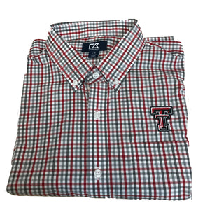 Cutter & Buck Texas Tech - Red & Grey Plaid