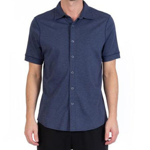 Aqua Cotton (The Linden) Button Down