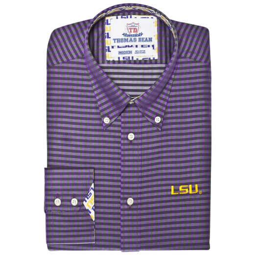 TDC LSU Tigers - Purple Gingham