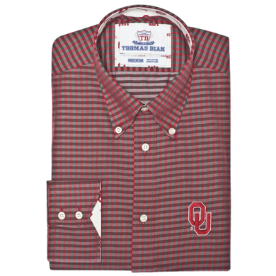 TDC OU Sooners -Crimson Gingham