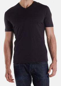 Aqua Cotton Basic V-Neck Tee