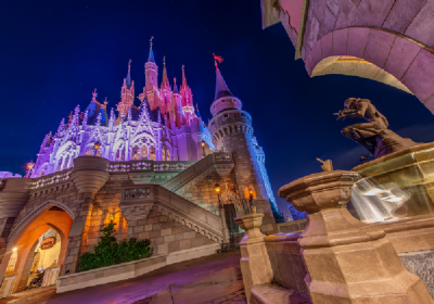 Cinderella Castle at Night 2