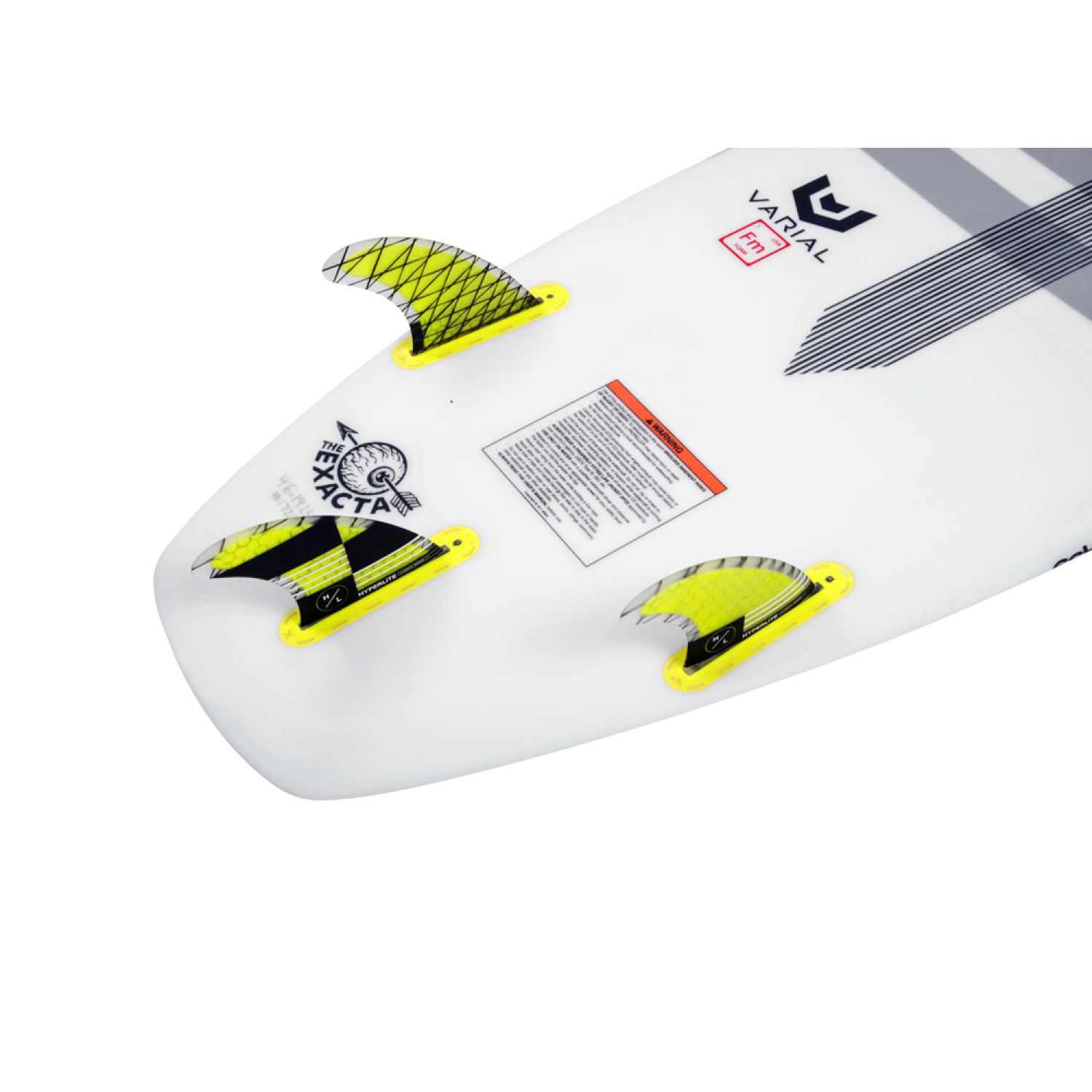 "4.5"" CARBON SURF FIN SET W/ KEY"