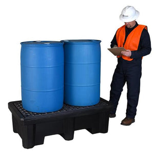 2 drum spill pallet that can be used with forklift